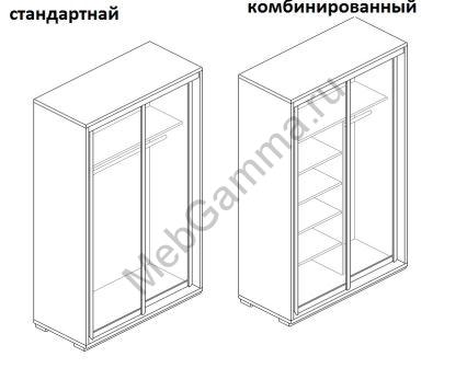Шкаф распашной жалюзи рейка ДР2-Ж
