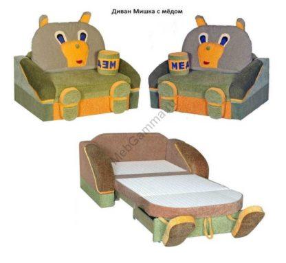 Детский диван Мишка с мёдом