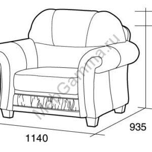 Кресло для отдыха София ПП+ПС+К