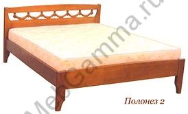 Кровать деревянная «Полонез-2»