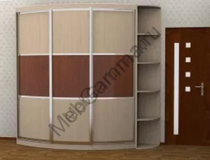 Прямой выпуклый радиусный шкаф-купе Радион-Лайн