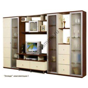 Стенка мебельная Эллада комплектация 1(КП 027, 030,028,026)