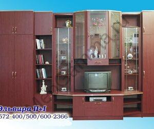 Стенка мебельная Эльвира 2+1